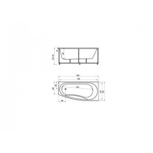 Ванна акриловая Акватек Пандора 160 см