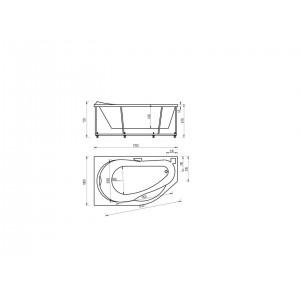 Ванна акриловая Акватек Таурус 170 см