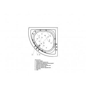 Ванна акриловая Акватек Юпитер 150 см